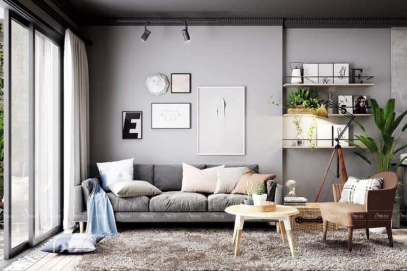Bộ sofa cùng tông chủ đạo đơn giản nhưng vẫn tinh tế
