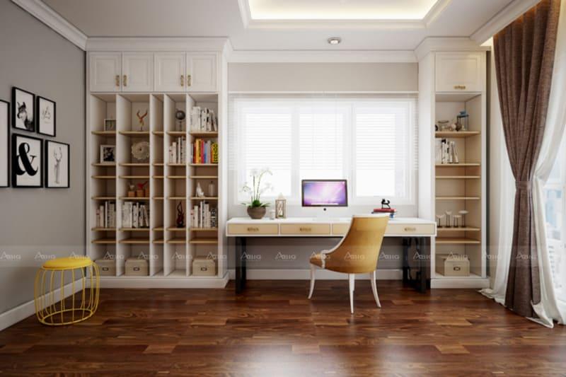 Phòng làm việc tận dụng tối đa nguồn sáng tự nhiên