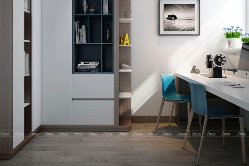 Phòng làm được thiết kế tinh tế, tạo cảm giác thoải mái khi làm việc.