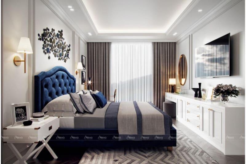 Phòng ngủ được bày trí đặc sắc với các phụ kiện trang trí