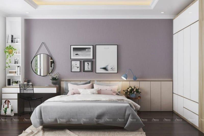 Trang trí phòng ngủ bằng hoa hay tranh treo tường tăng sự sinh động cho không gian