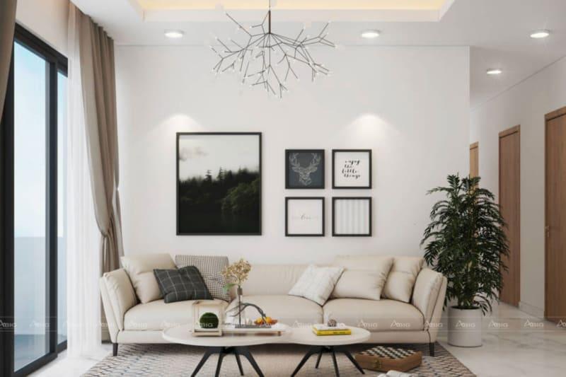 Sự kết hợp nội thất thông minh tạo ấn tượng mạnh cho người xem khi vừa bước chân vào nhà.