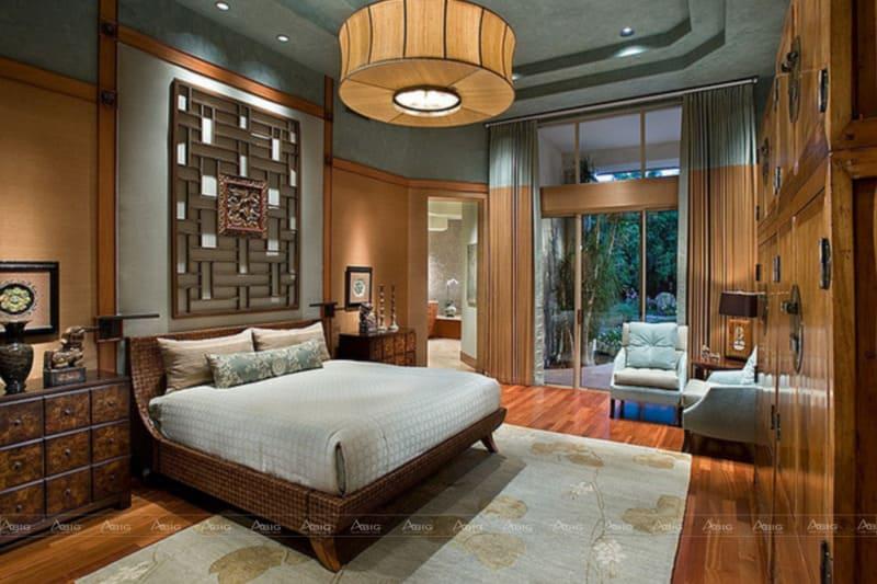 Không nội thất đồ gỗ tạo nên vẻ hoài niệm cho phòng ngủ