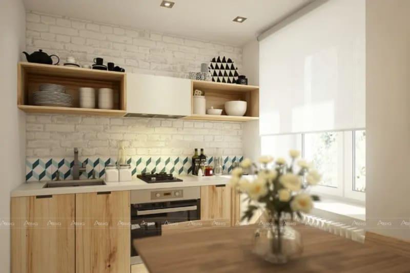 Khu vực bếp cũng được các kiến trúc sư tính toán kỹ lưỡng tỷ lệ thiết kế, trang trí họa tiết và kết hợp màu sắc hài hòa.
