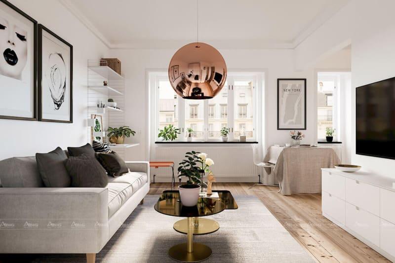 Thiết kế nội thất chung cư theo phong cách hiện đại, sang trọng