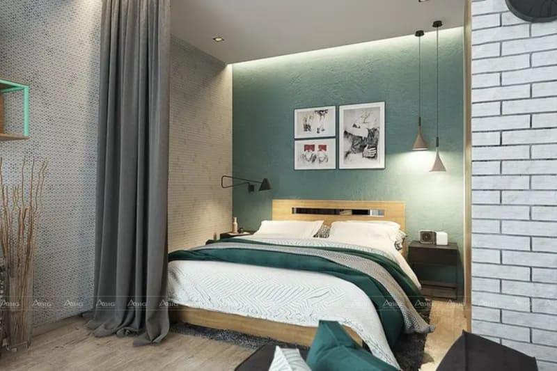 Phòng ngủ với thiết kế tối ưu diện tích, nội thất trang trí đơn giản không hề làm giảm đi sự quyến rũ của căn phòng.