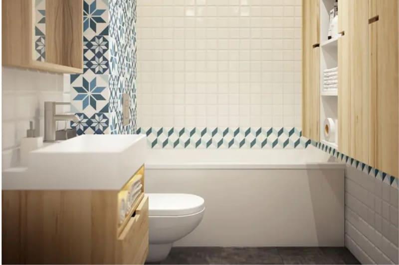 Phòng vệ sinh với diện tích nhỏ gọn.