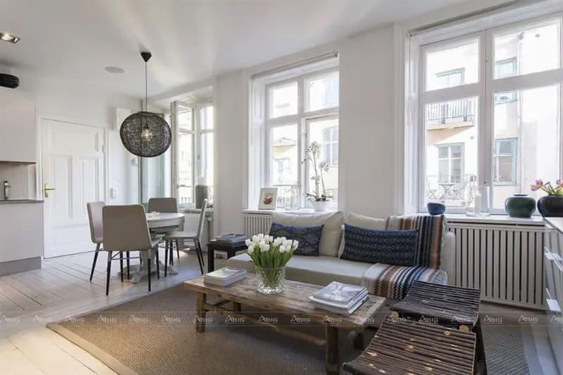 Thiết kế nội thất đơn giản cho căn hộ nhỏ.