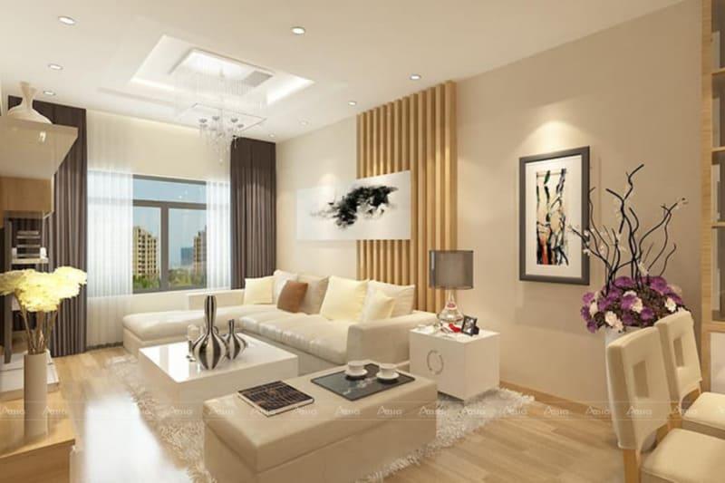 Thiết kế phòng khách hiện đại, tối giản