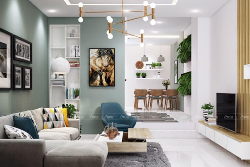 Phong cách thiết kế hiện đại cho căn hộ chung cư.