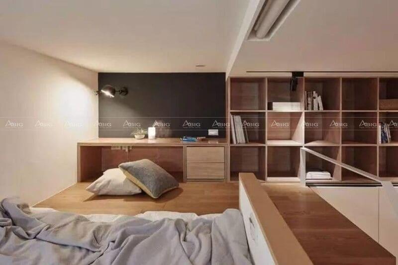 Khu vực phòng ngủ được thiết kế đầy đủ tiện nghi và hiện đại
