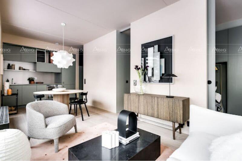 Sử dụng màu sắc cá tính và nội thất hiện đại tạo nên nét đẹp đặc biệt cho căn hộ
