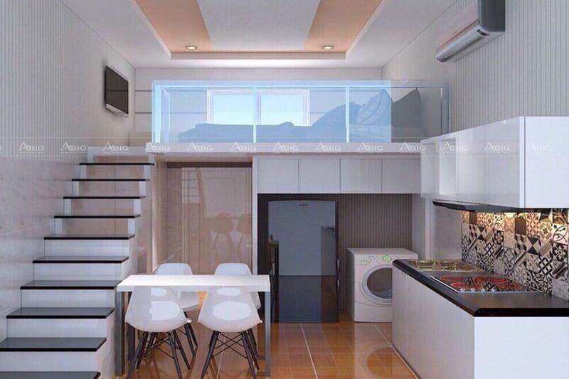 Thiết kế không gian mở giúp căn hộ chung cư mini trở nên thoáng đãng
