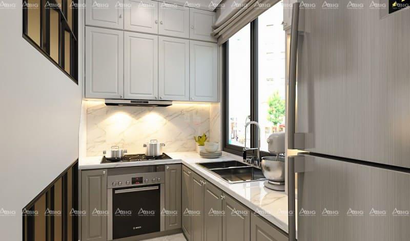 nội thất khu bếp được thiết kế ngăn nắp, sang trọng và đẳng cấp