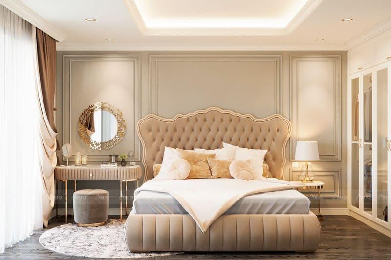 phòng ngủ được thiết kế vô cùng đẳng cấp và sang trọng