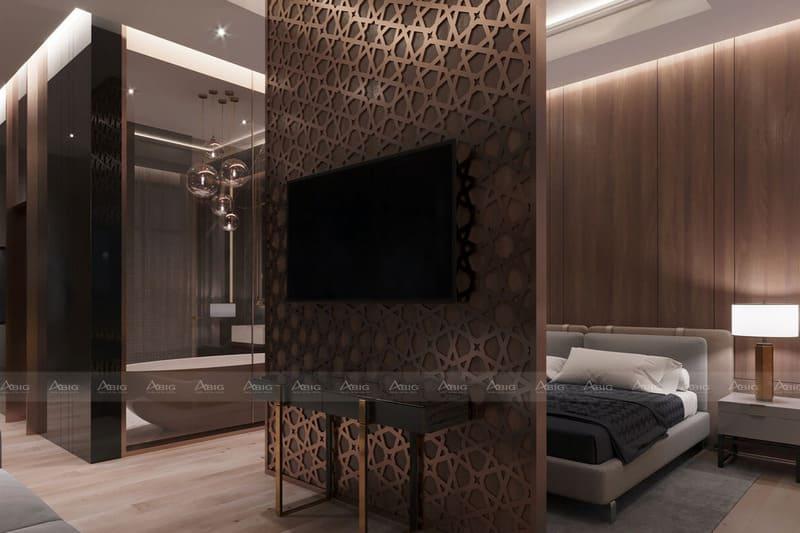 thiết kế tích hợp biến phòng ngủ thành phòng khách mini