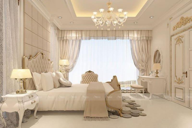 phong cách cổ điển khiến căn phòng trử nên tráng lệ hơn