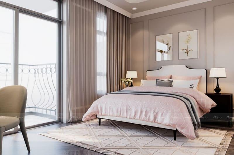 phòng ngủ thiết kế theo phong cách tân cổ điển sang trọng