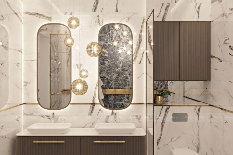 nhà vệ sinh óp lát vật liệu pvc cao cấp vân đá tự nhiên