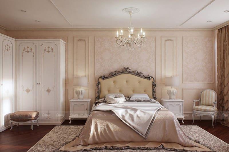 từng chi tiết họa tiết của nội thất tổ điểm thêm vẻ trang nhã cho căn phòng