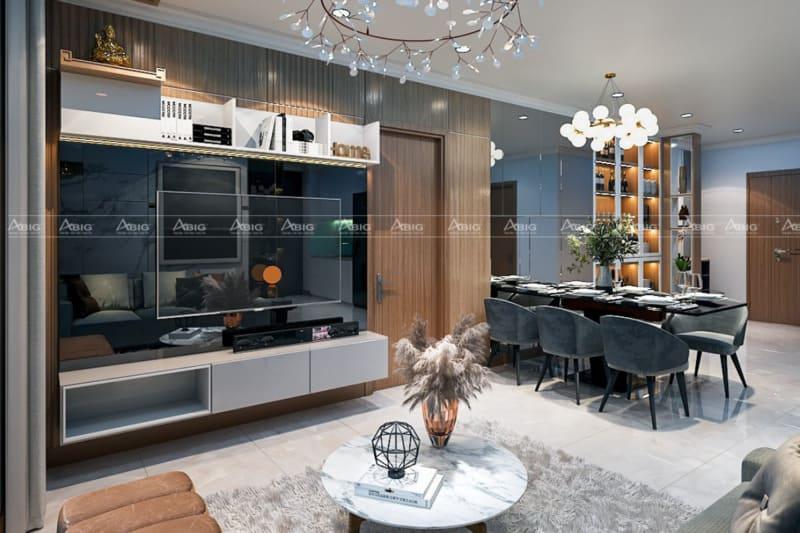 kết hợp nội thất khéo léo giúp không gian phòng khách trở nên lộng lẫy