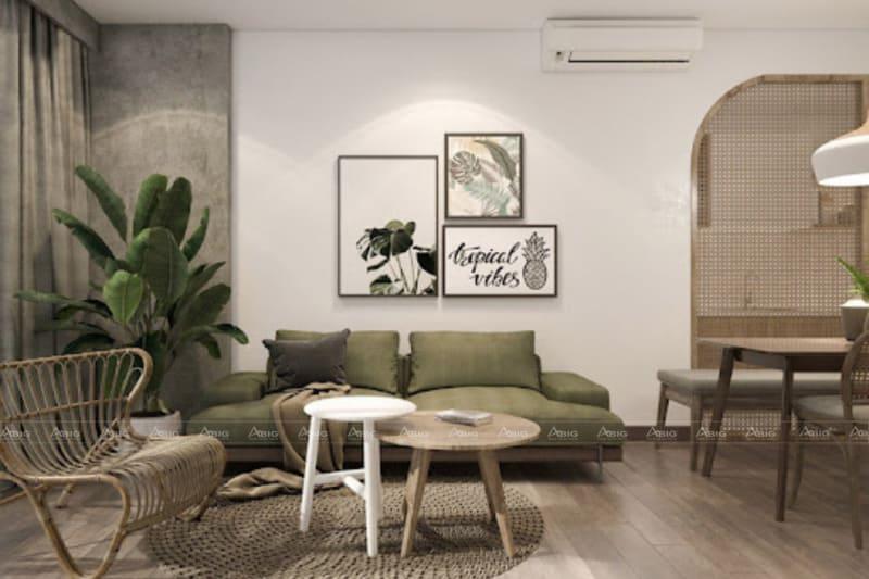 mẫu thiết kế nội thất phong cách vintage cho phòng khách chung cư hado centrosa
