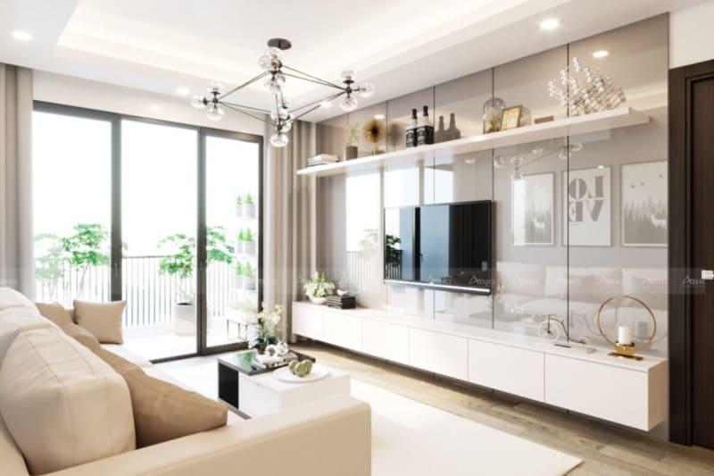 thiết kế nội thất phòng khách căn hộ chung cư land mark 81