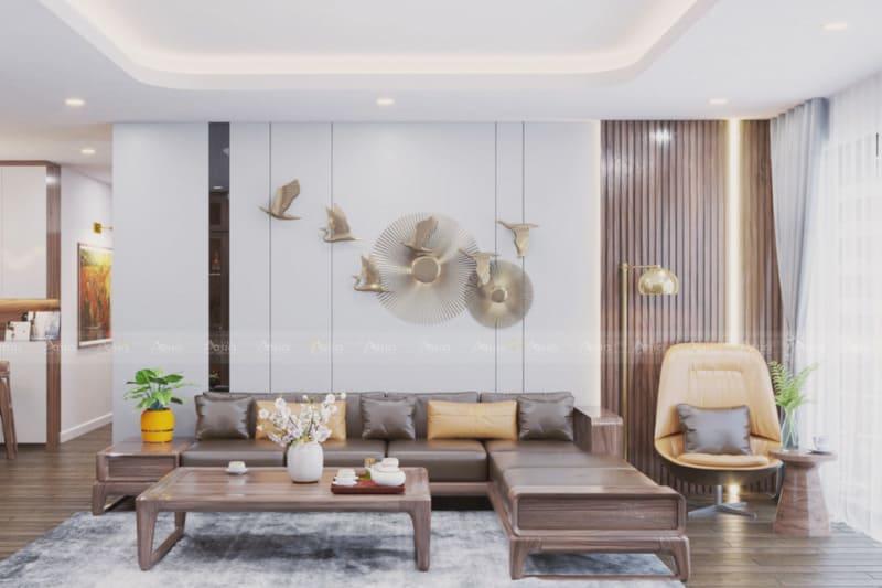 thiết kế nội thất phòng khách căn hộ chung cư phú mỹ hưng