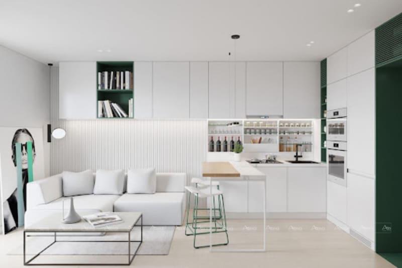 mẫu thiết kế nội thất phòng khách căn hộ chung cư sadora quận 2