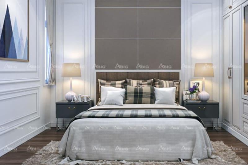 mẫu thiết kế nội thất phòng ngủ chung cư sang trọng cho bé trai