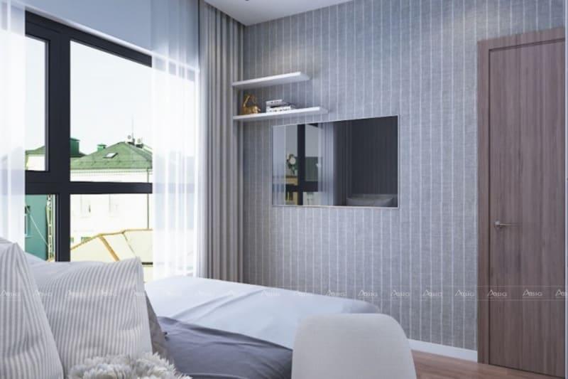 mẫu thiết kế phòng ngủ chung cư tiết kiệm không gian