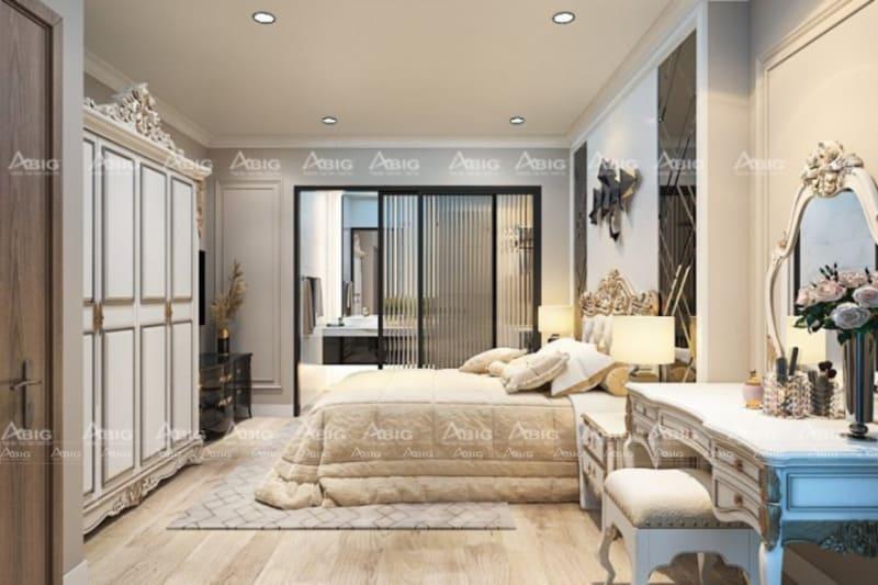mẫu thiết kế phòng ngủ cho bé gái phong cách tân cổ điển sang trọng quý phái