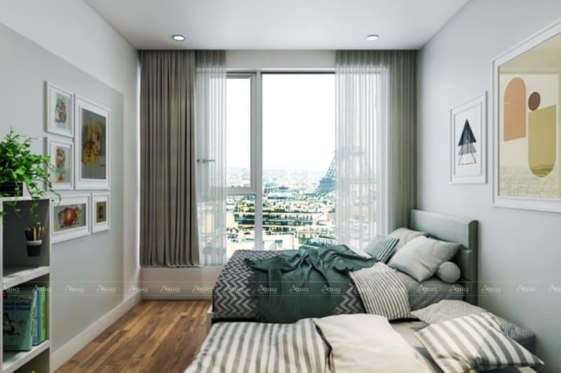 mẫu thiết kế phòng ngủ chung cư cho bé trai phong cách tối giản đơn giản
