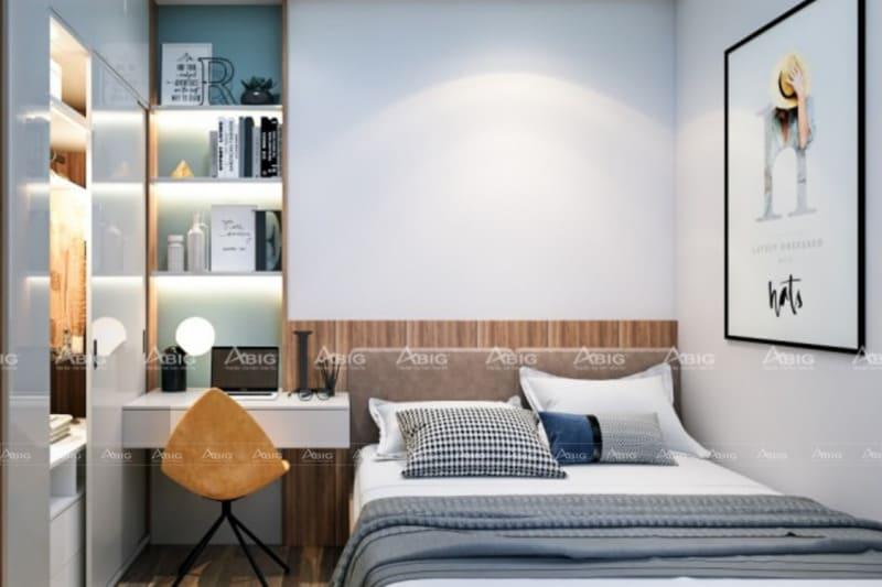 mẫu thiết kế nọi thất cho phòng ngủ chung cư nhỏ gọn tiết kiệm diện tích
