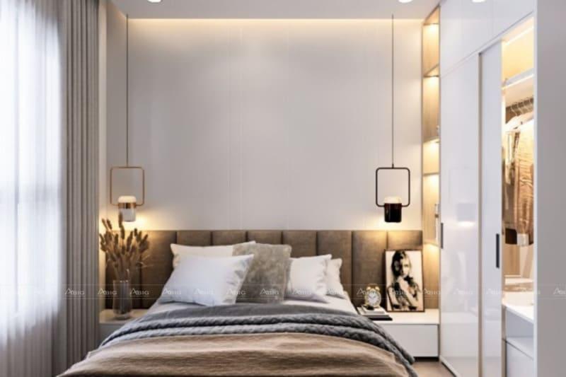 mẫu thiết kế phòng ngủ chung cư nhỏ đẹp hiện đại