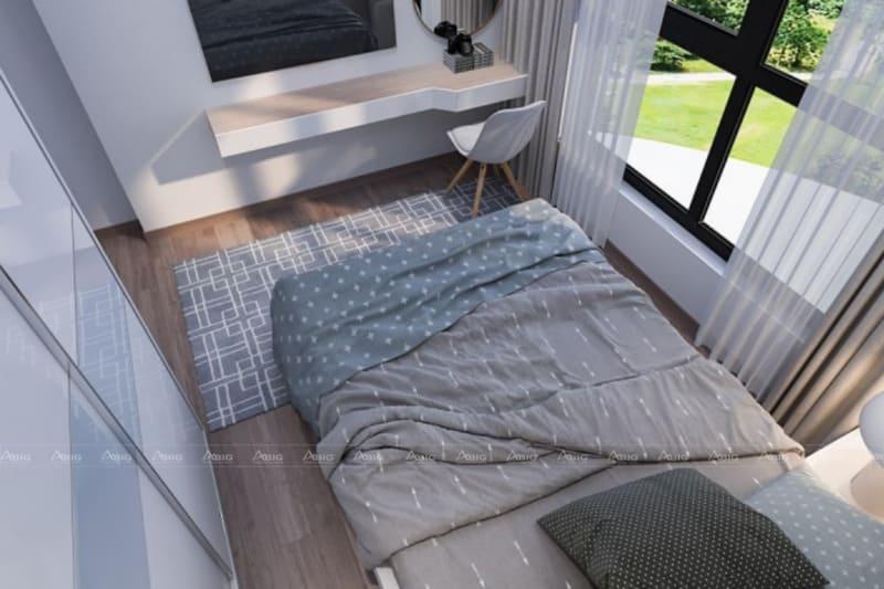 mẫu thiết kế nội thất cho phòng ngủ chung cư nhỏ nhắn tiện nghi