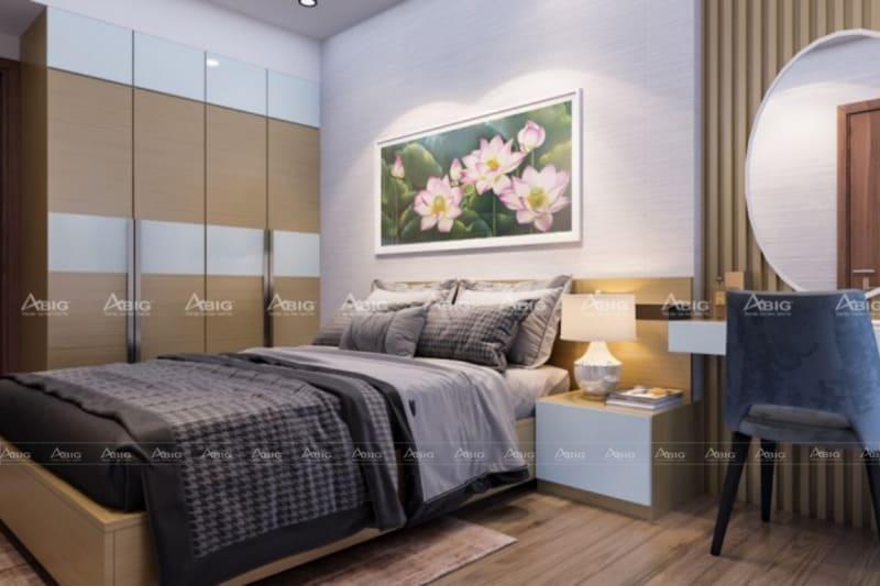 mẫu thiết kế phòng ngủ master chung cư sang trọng