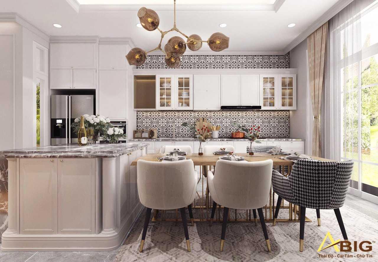 Thiết kế nội thất biệt thự tân cổ điển cho phòng bếp
