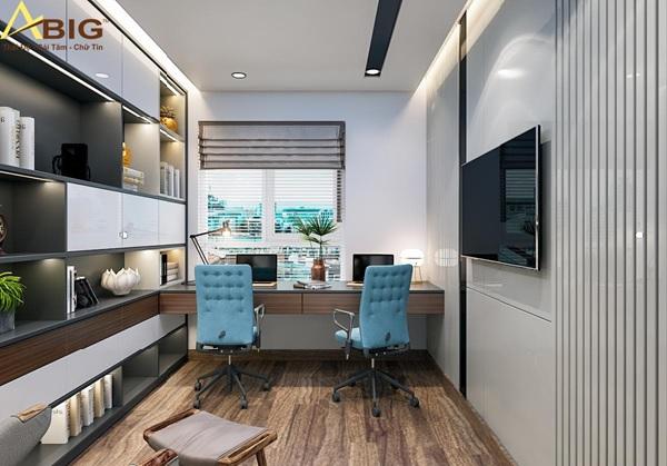 Thiết kế phòng ngủ kết hợp phòng làm việc để tiết kiệm diện tích