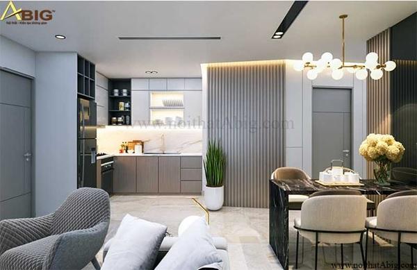 Mẫu thiết kế nội thất căn hộ có 3 phòng ngủ diện tích nhỏ