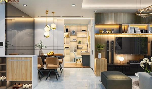 Mẫu thiết kế nội thất sang trọng, hiện đại cho căn hộ 3 phòng ngủ
