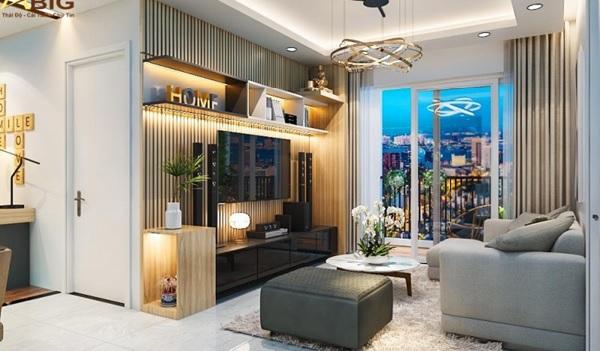 Thiết kế nội thất đơn giản cho căn hộ 3 phòng ngủ