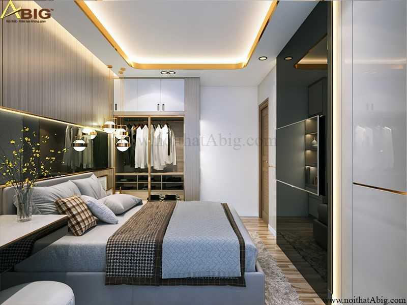 Phòng ngủ được thiết kế sang trọng