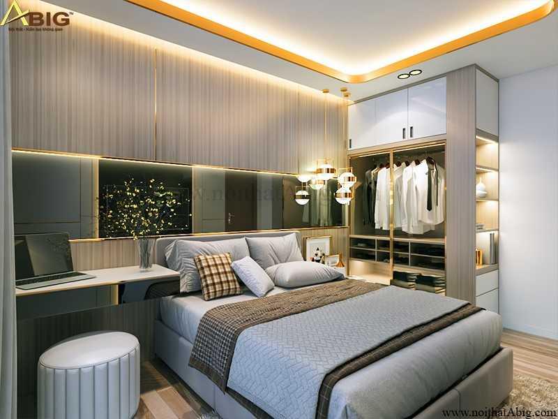Bố trí nội thất phòng ngủ gọn gàng