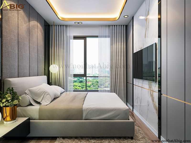 Màu sắc tươi mới tạo không gian ngủ ấn tượng