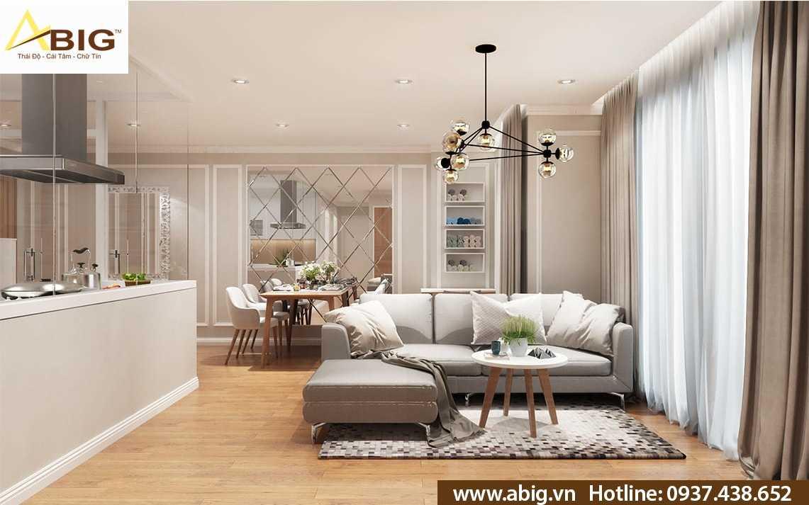 thiết kế nội thất căn hộ 2 phòng ngủ tại tphcm