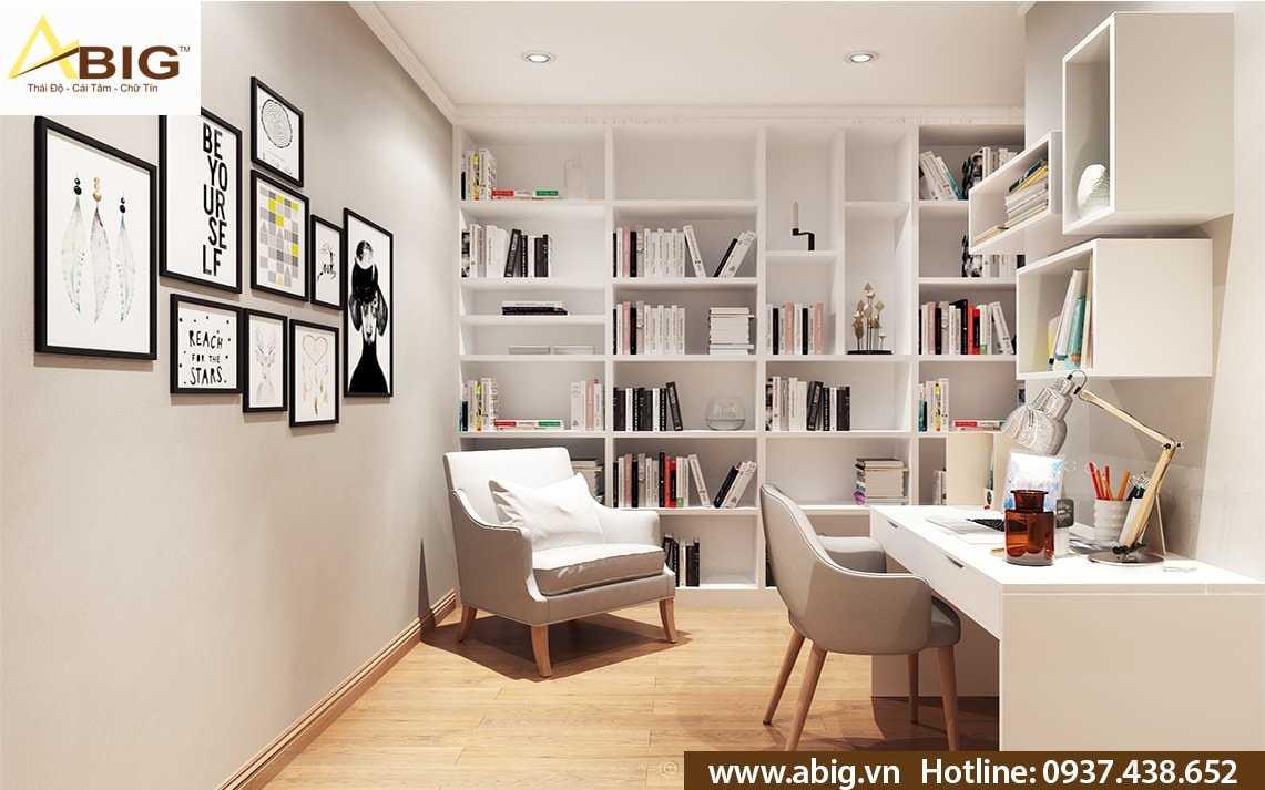 Thiết kế nội thất căn hộ 2 phòng ngủ với không gian làm việc hiện đại