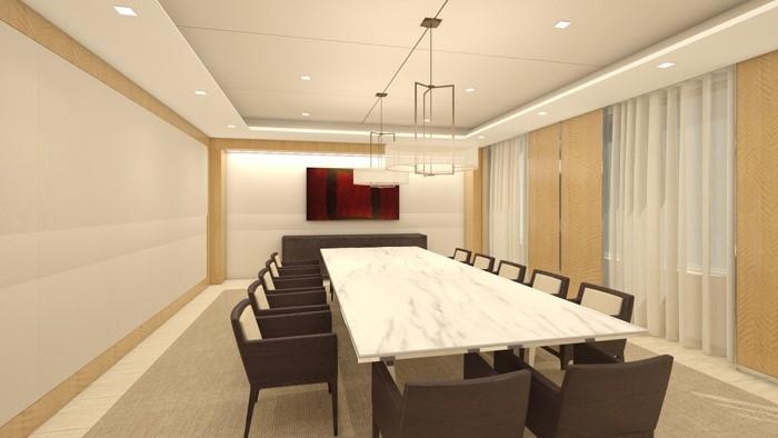 Mẫu phòng họp hiện đại, tối giản theo phong cách Nhật