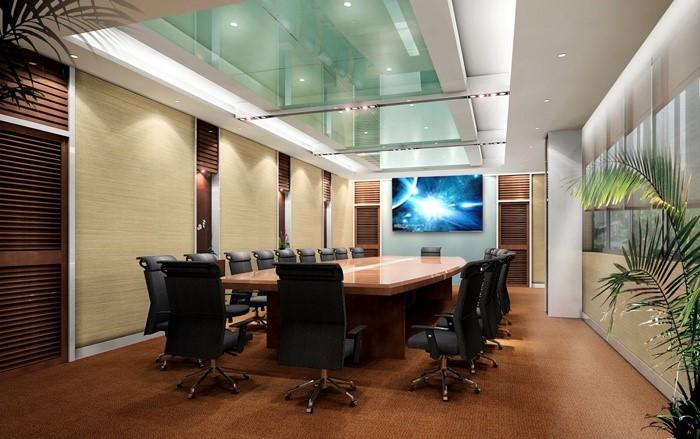 Phòng họp có thiết kế trần kính sang trọng