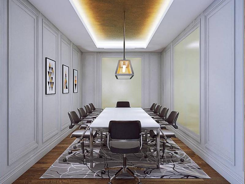 Phòng họp có sự phân bố màu sắc phá cách, nổi bật